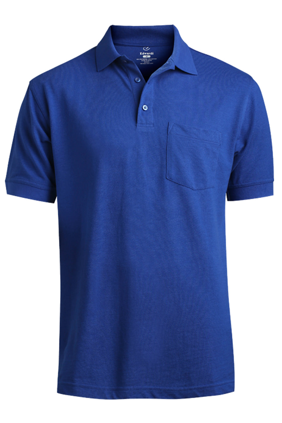 Royal Edwards Blended Pique Short Sleeve Polo With Pocket