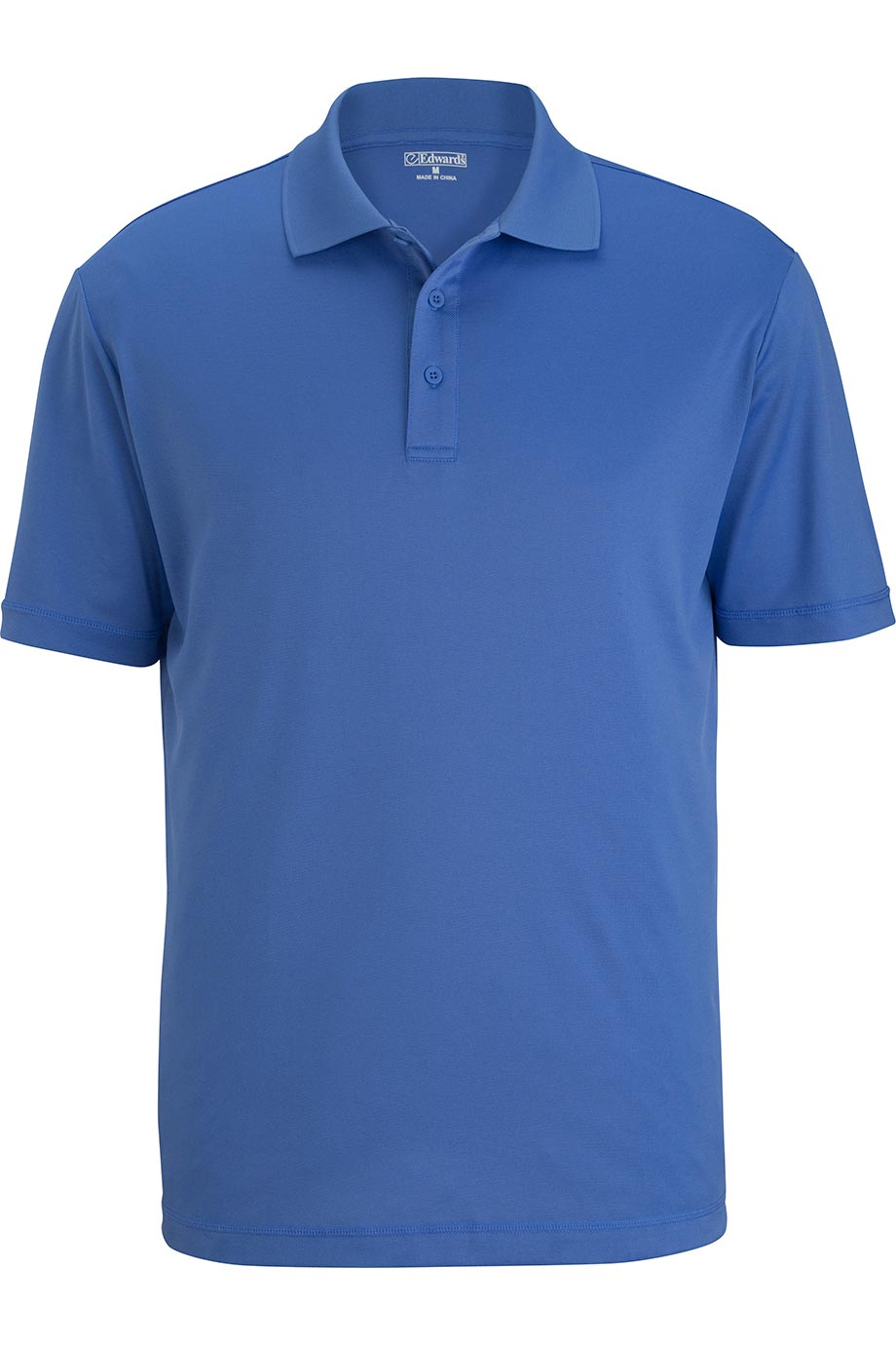 French Blue Edwards Mens Durable Performance Polo