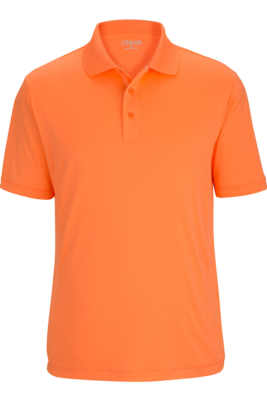 High Visibility Orange Edwards Mens Durable Performance Polo