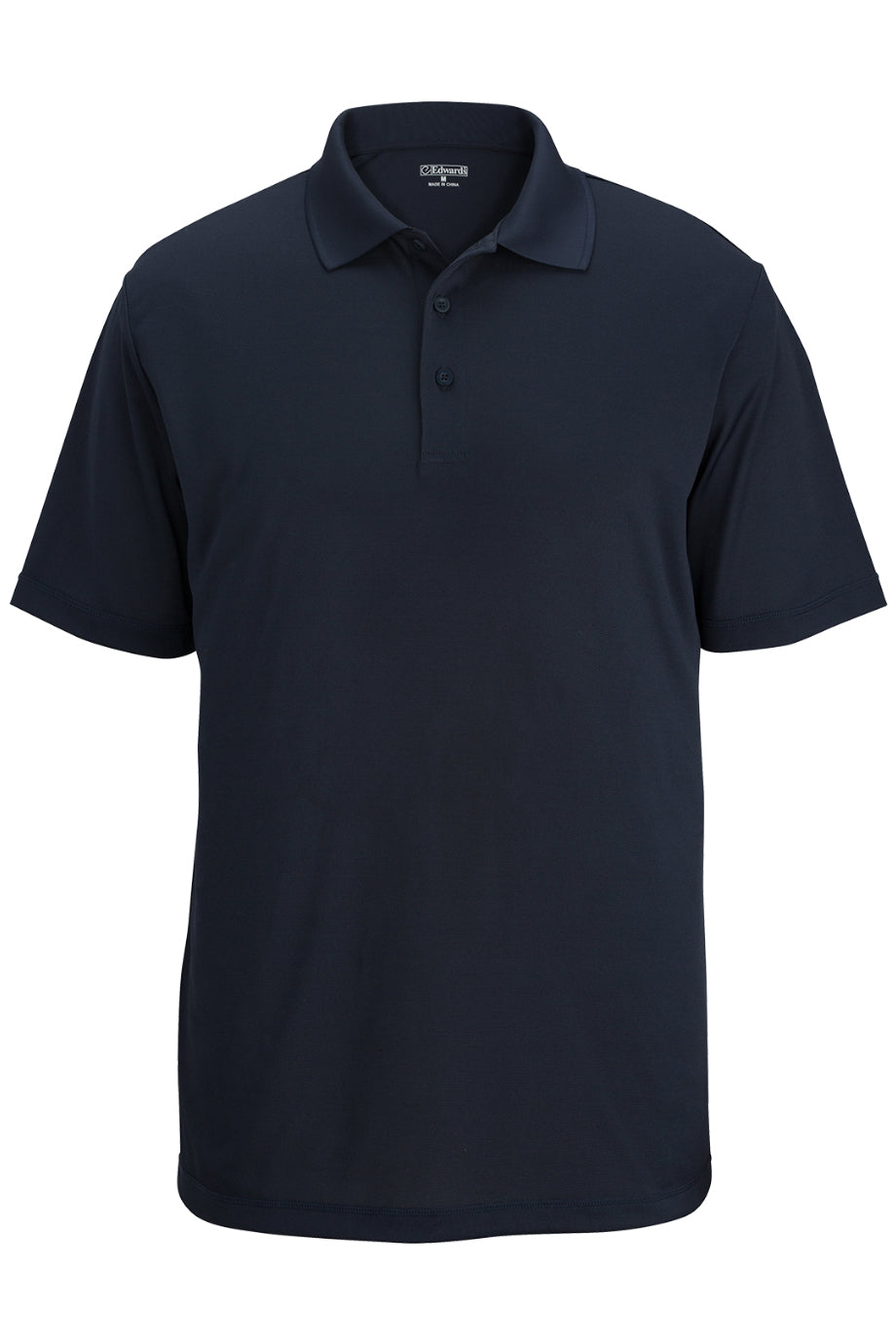 Bright Navy Edwards Mens Durable Performance Polo