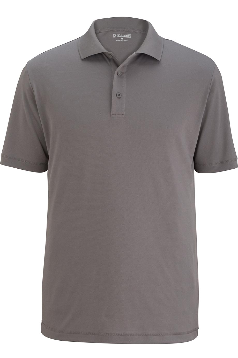 Cool Grey Edwards Mens Durable Performance Polo