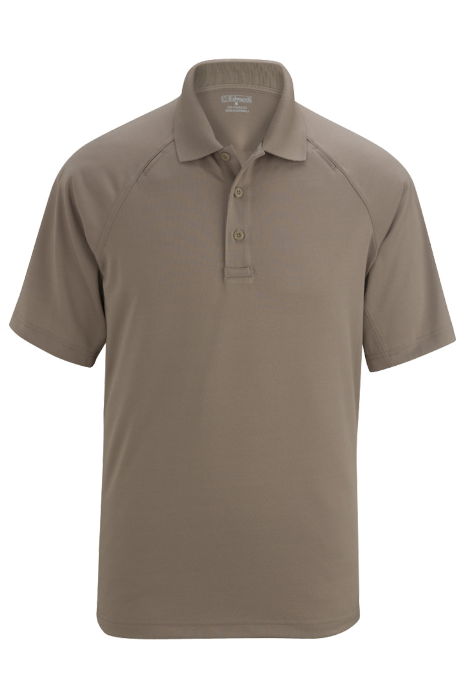 Silver Tan Edwards Mens Snag-Proof Short Sleeve Polo