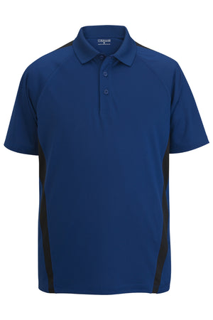Edwards Mens Snag-Proof Color Block Short Sleeve Polo
