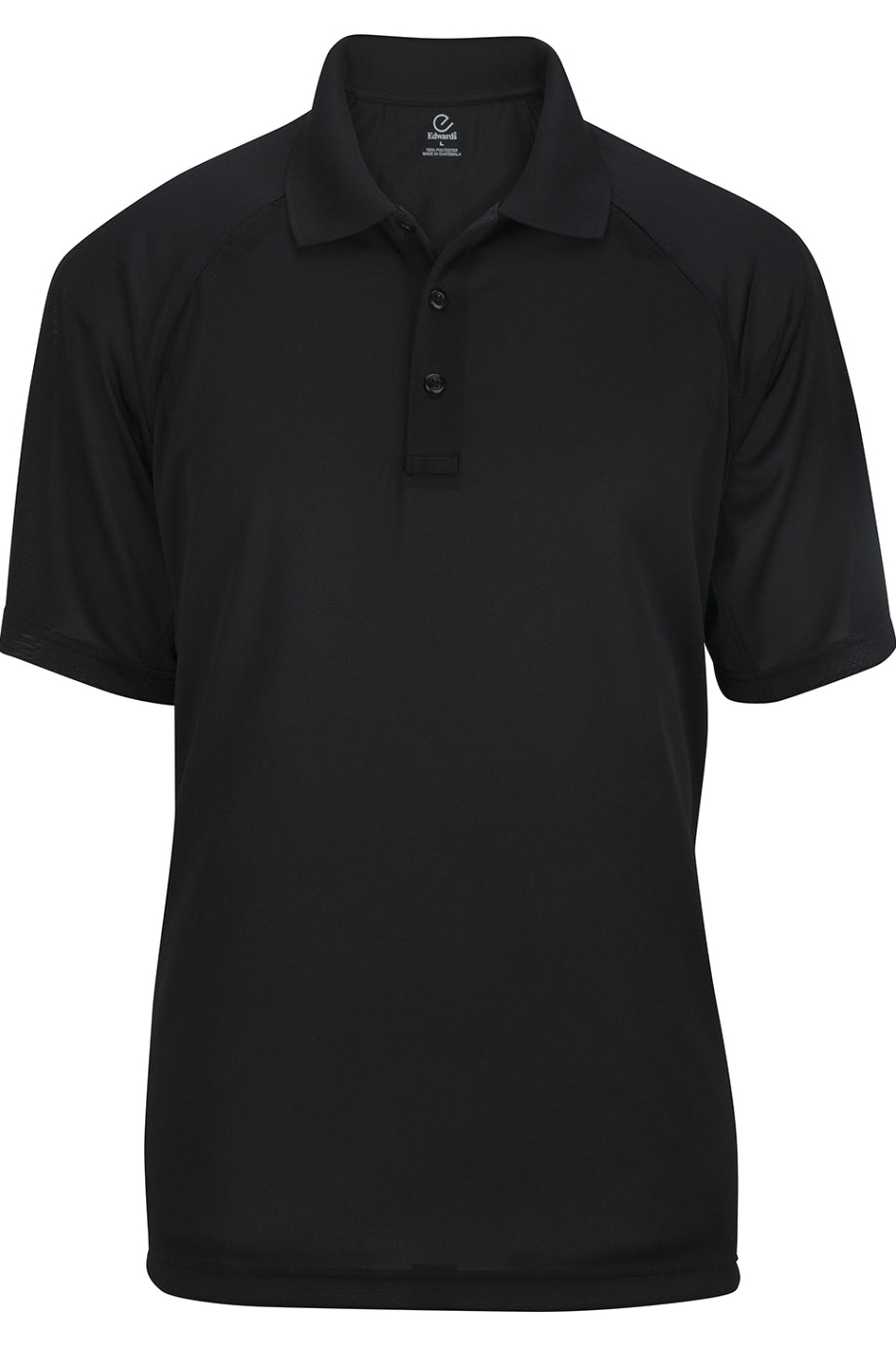 Black Edwards Mens Tactical Snag-Proof Short Sleeve Polo