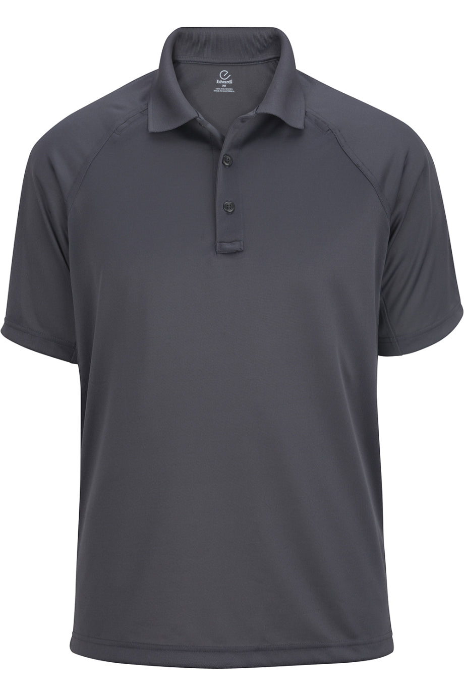 Steel Grey Edwards Mens Tactical Snag-Proof Short Sleeve Polo