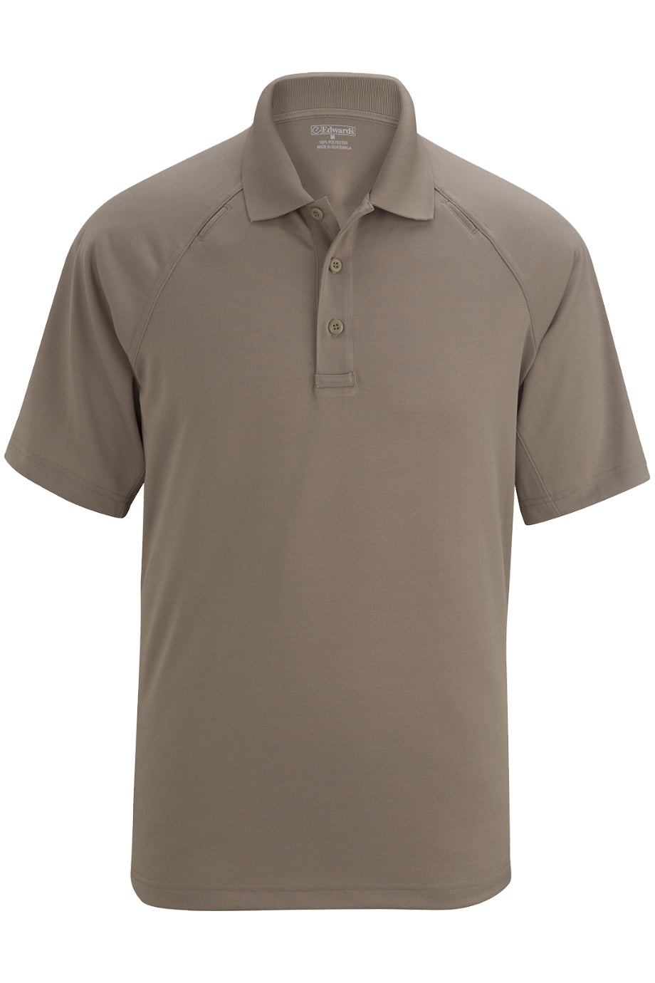 Silver Tan Edwards Mens Tactical Snag-Proof Short Sleeve Polo
