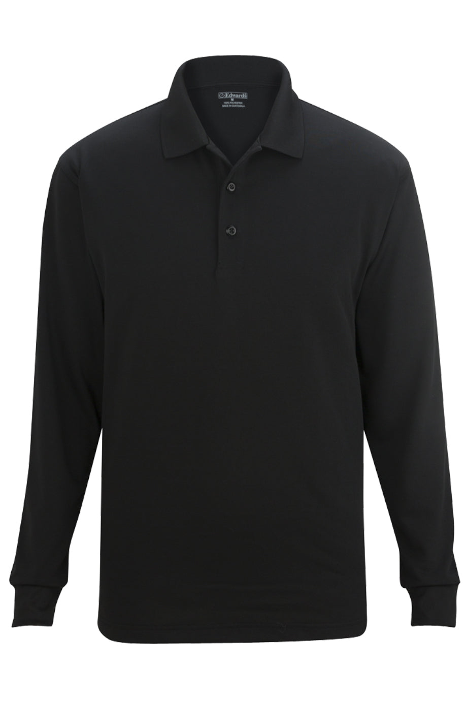 Black Edwards Unisex Snag Proof Long Sleeve Polo