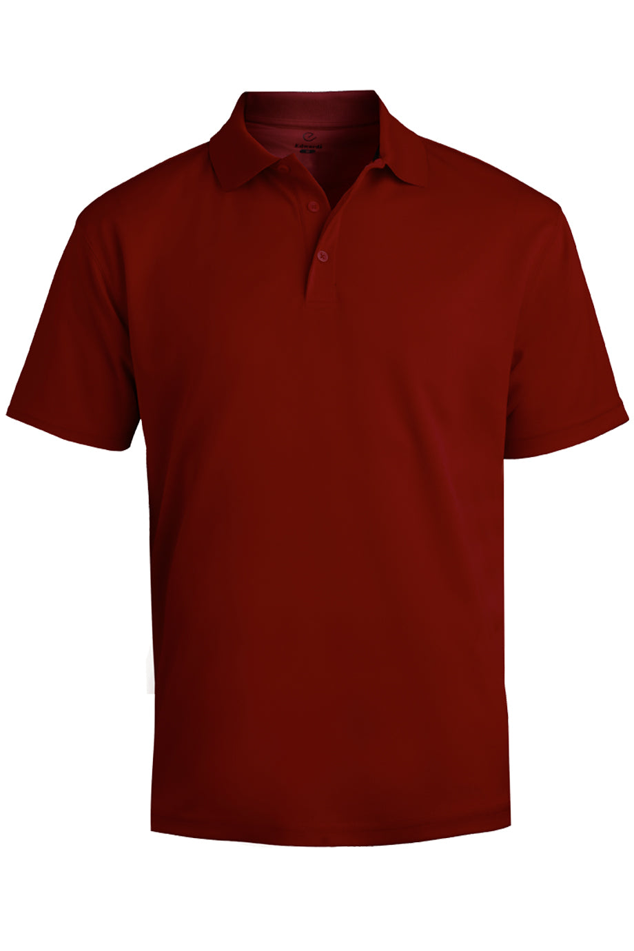 Burgundy Edwards Mens Hi-Performance Mesh Short Sleeve Polo