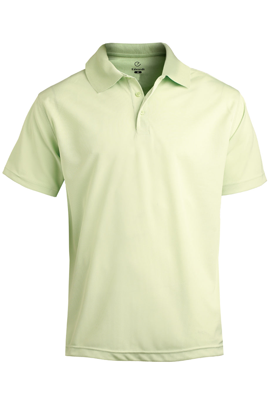 Cucumber Edwards Mens Hi-Performance Mesh Short Sleeve Polo