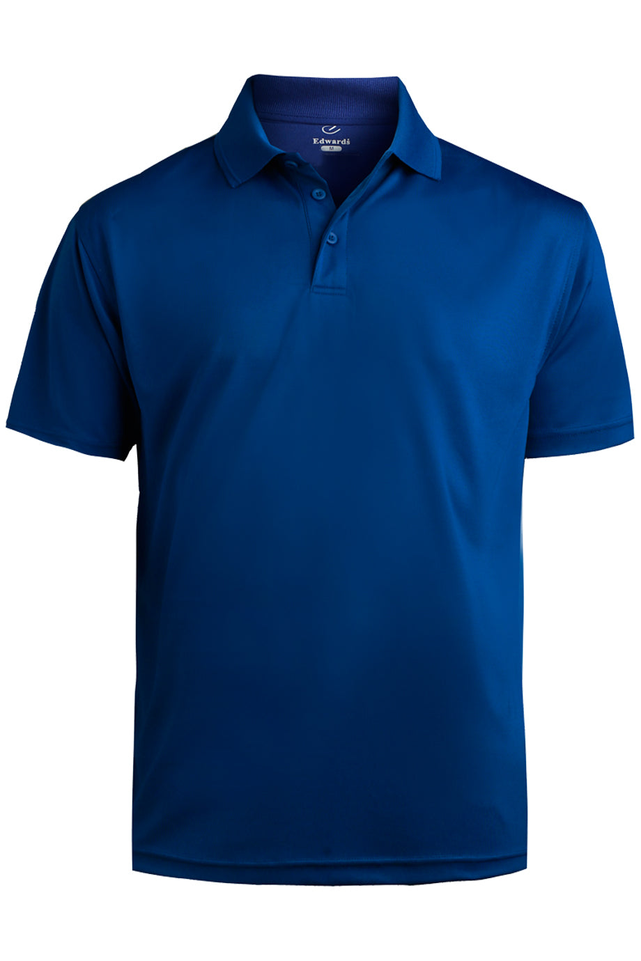 Royal Edwards Mens Performance Flat-Knit Short Sleeve Polo