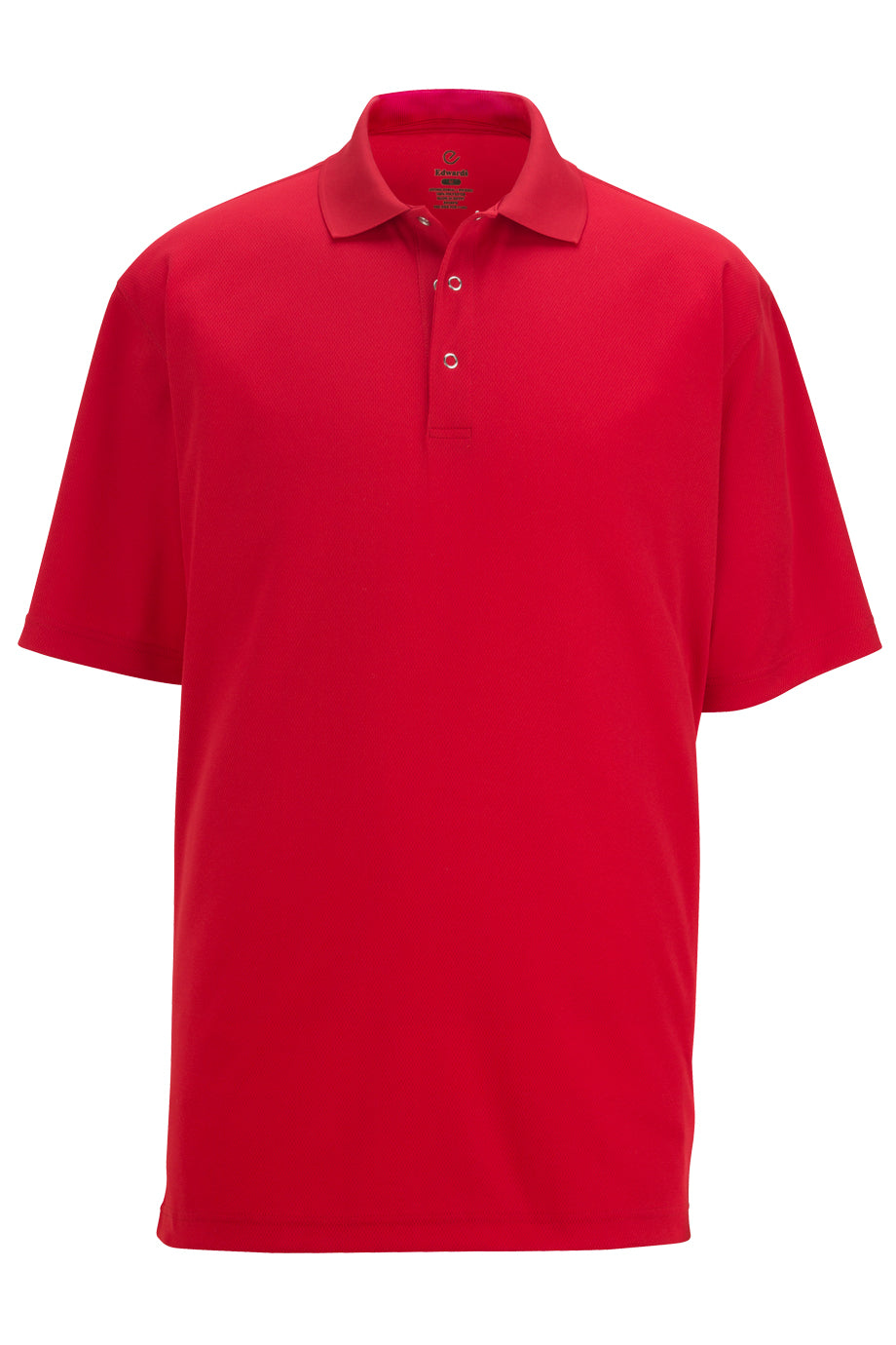 Red Edwards Mens Snap Front Hi-Performance Short Sleeve Polo
