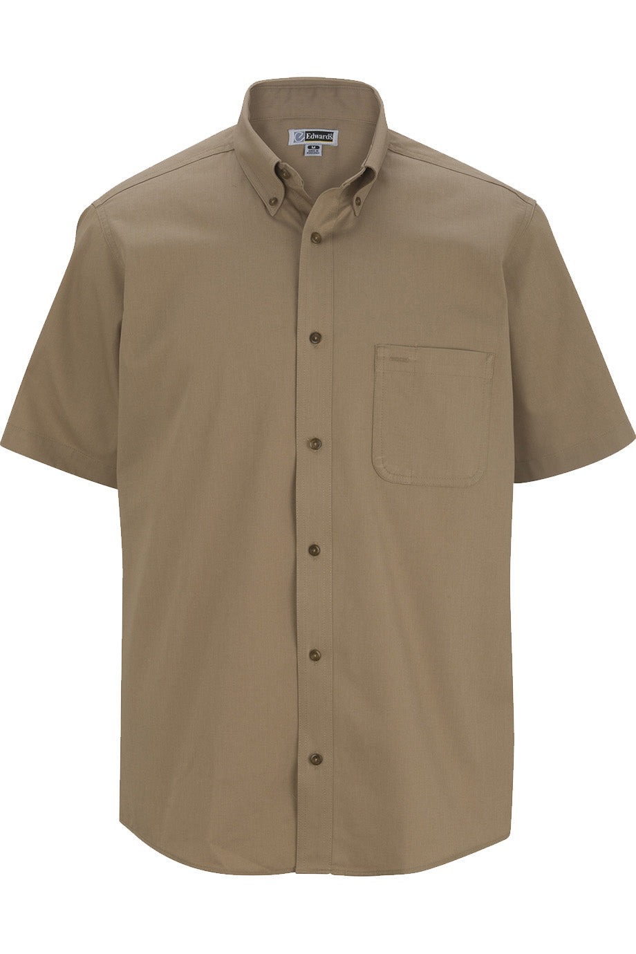 Tan Edwards Mens Cottonplus Short Sleeve Twill Shirt