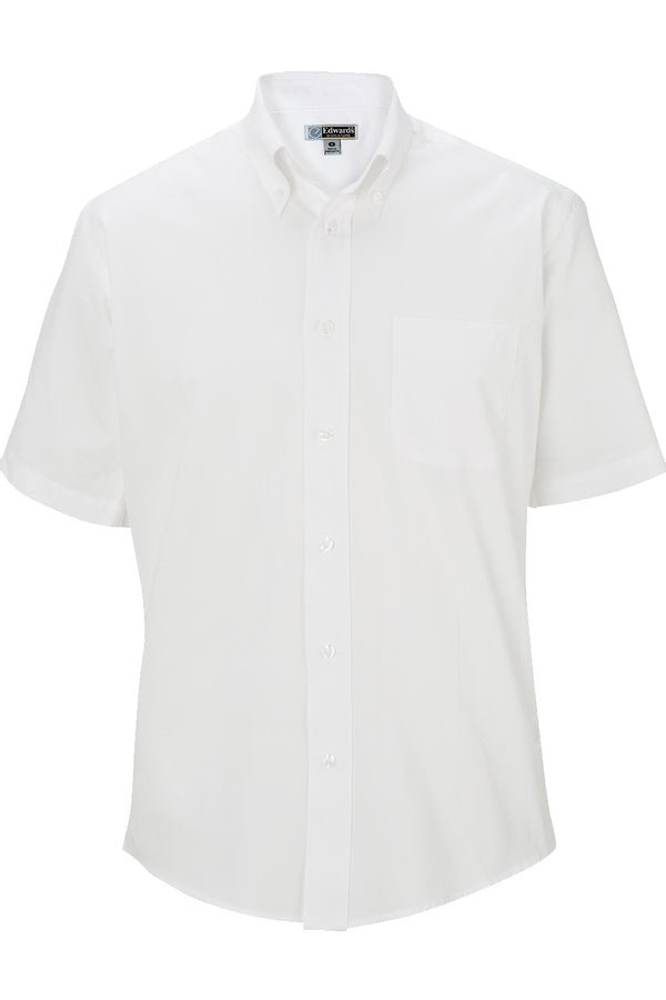Edwards Mens Pinpoint Oxford Shirt - Short Sleeve