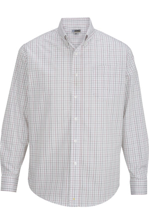 Edwards Mens Tattersall Poplin Shirt