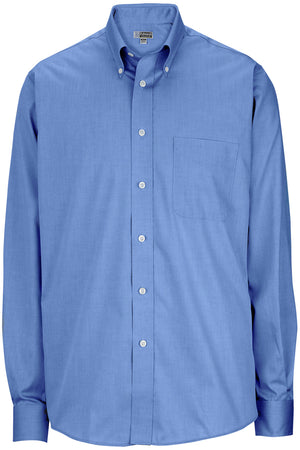 French Blue 1975 Mens Long Sleeve Pinpoint Oxford Shirt