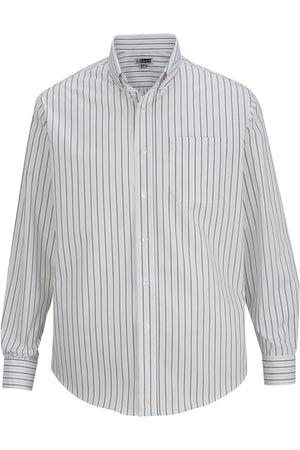 Edwards Mens Double Stripe Dress Poplin Shirt