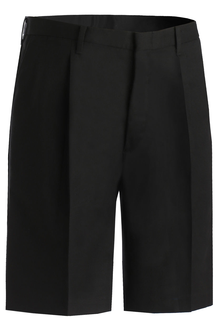 Black Edwards Mens Business Casual Pleated Chino Short