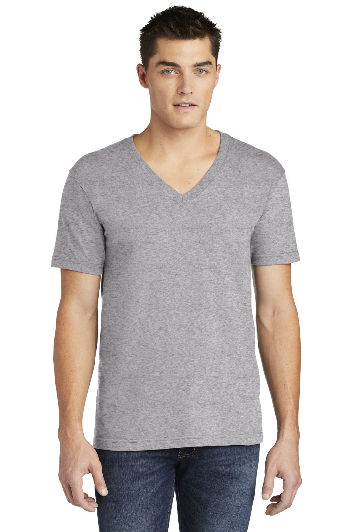 American Apparel & Fine Jersey V-Neck T-Shirt.