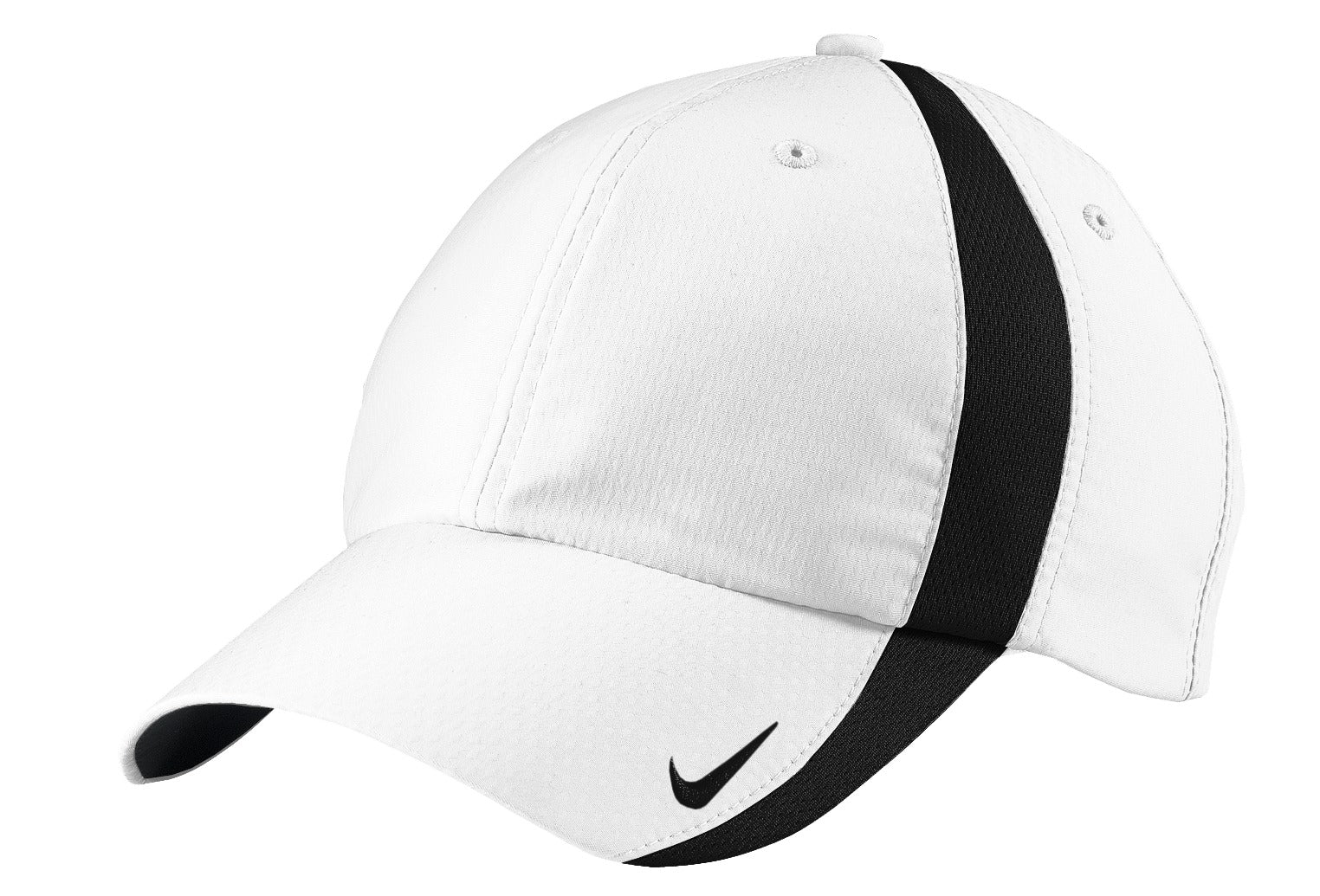 White / Black Nike Sphere Dry Cap
