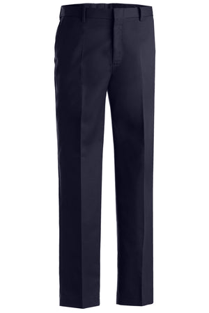 Edwards Mens Business Casual Flat Front Chino Pant - Navy