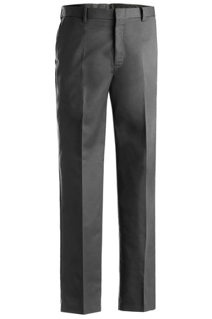 Edwards Mens Business Casual Flat Front Chino Pant - Dare Grey