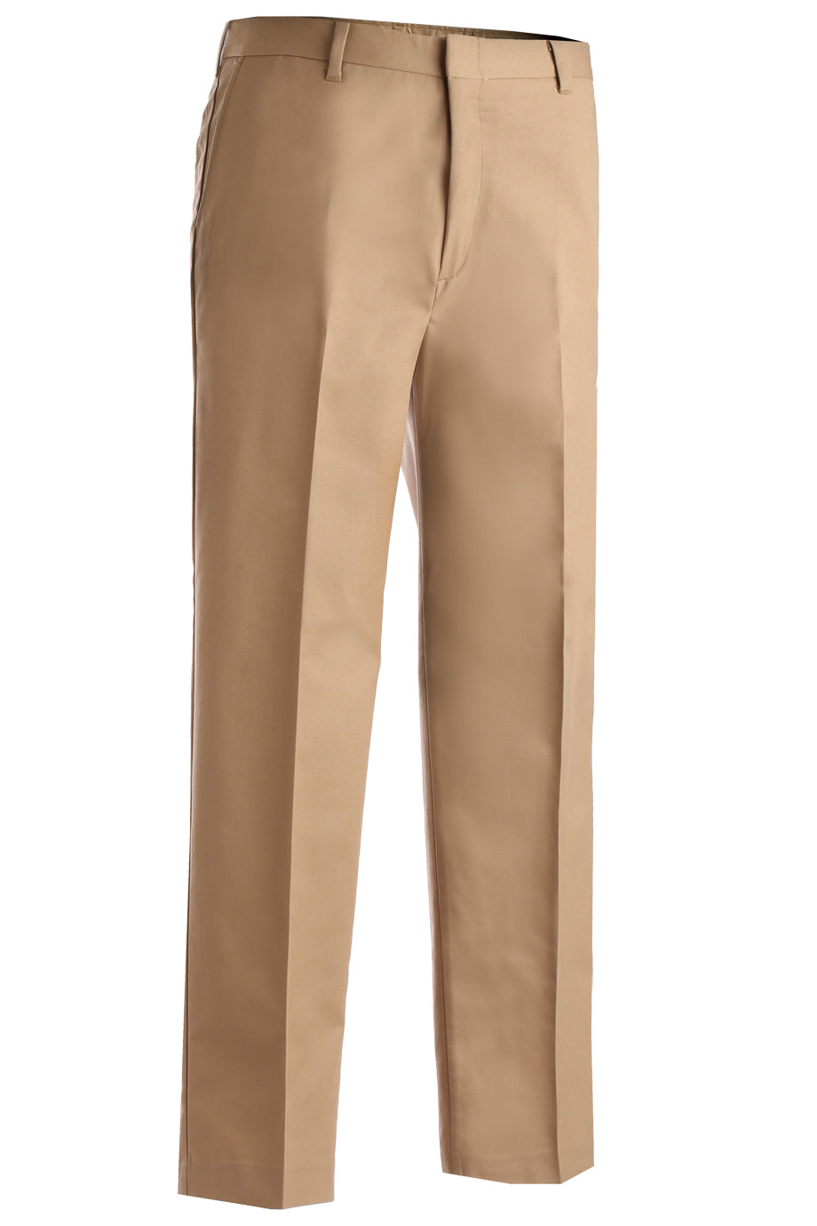 Khaki Edwards Mens Business Casual Flat Front Chino Pant - Khaki