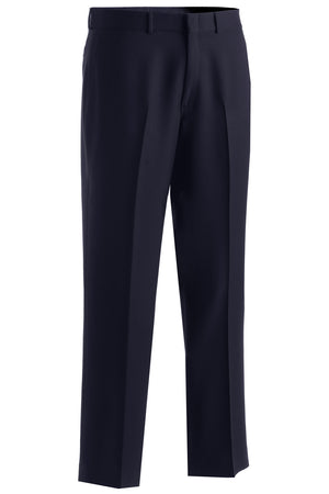 Edwards Mens Synergy Washable Traditional Fit Flat Front Pant - Navy