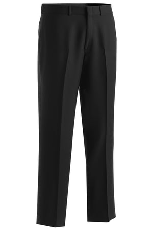 Edwards Mens Synergy Washable Traditional Fit Flat Front Pant - Black