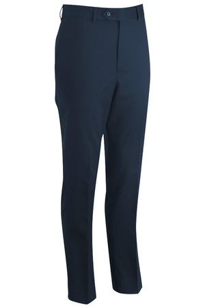 Navy Agate Edwards Mens Redwood & Ross Flat Front Dress Pant - Navy
