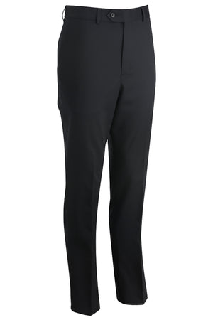 Black Onyx Edwards Mens Redwood & Ross Flat Front Dress Pant - Black