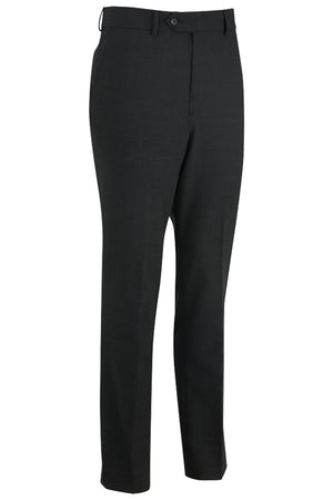 Charcoal Marl Edwards Mens Redwood & Ross Flat Front Dress Pant - Charcoal