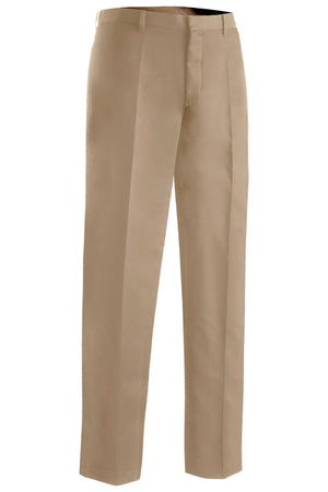 Edwards Mens Microfiber Flat Front Pant - Tan