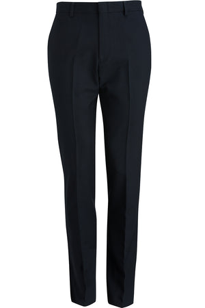 Edwards Mens Synergy Washable Tailored Fit Flat Front Pant - Navy