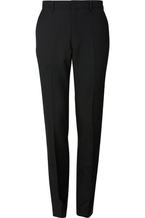 Edwards Mens Synergy Washable Tailored Fit Flat Front Pant - Black