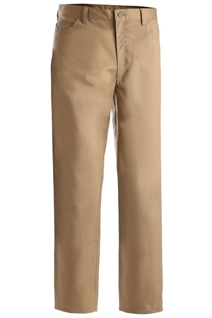 Edwards Mens Rugged Comfort Flat Front Pant - Tan