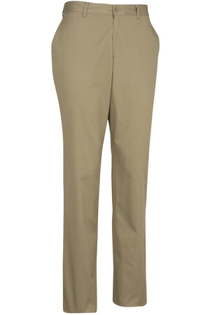 Edwards Mens Flat Front Slim Chino Pant - Tan