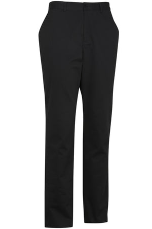 Edwards Mens Flat Front Slim Chino Pant - Black