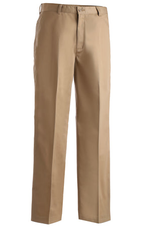 Edwards Mens Blended Chino Flat Front Pant - Tan