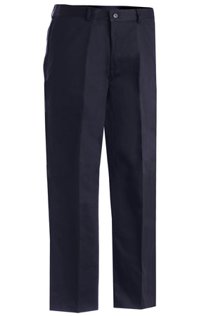 Edwards Mens Blended Chino Flat Front Pant - Navy