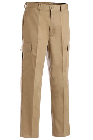 Edwards Mens Blended Chino Cargo Pant - Tan