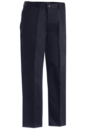 Edwards Mens Easy Fit Chino Flat Front Pant - Navy