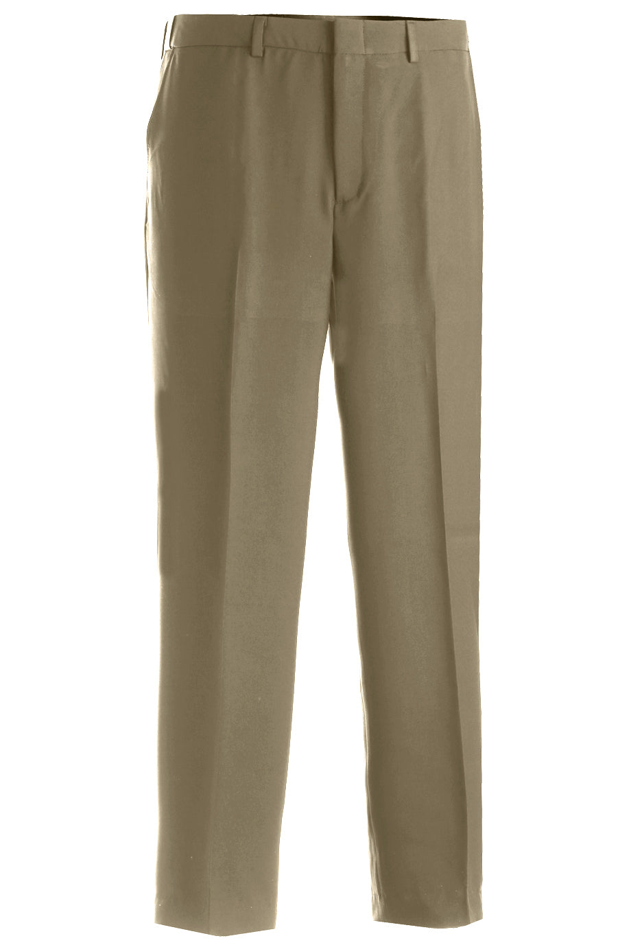 Edwards Mens Intaglio Flat Front Easy Fit Pant - Khaki