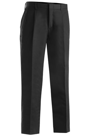 Edwards Mens Business Casual Pleated Chino Pant - Black