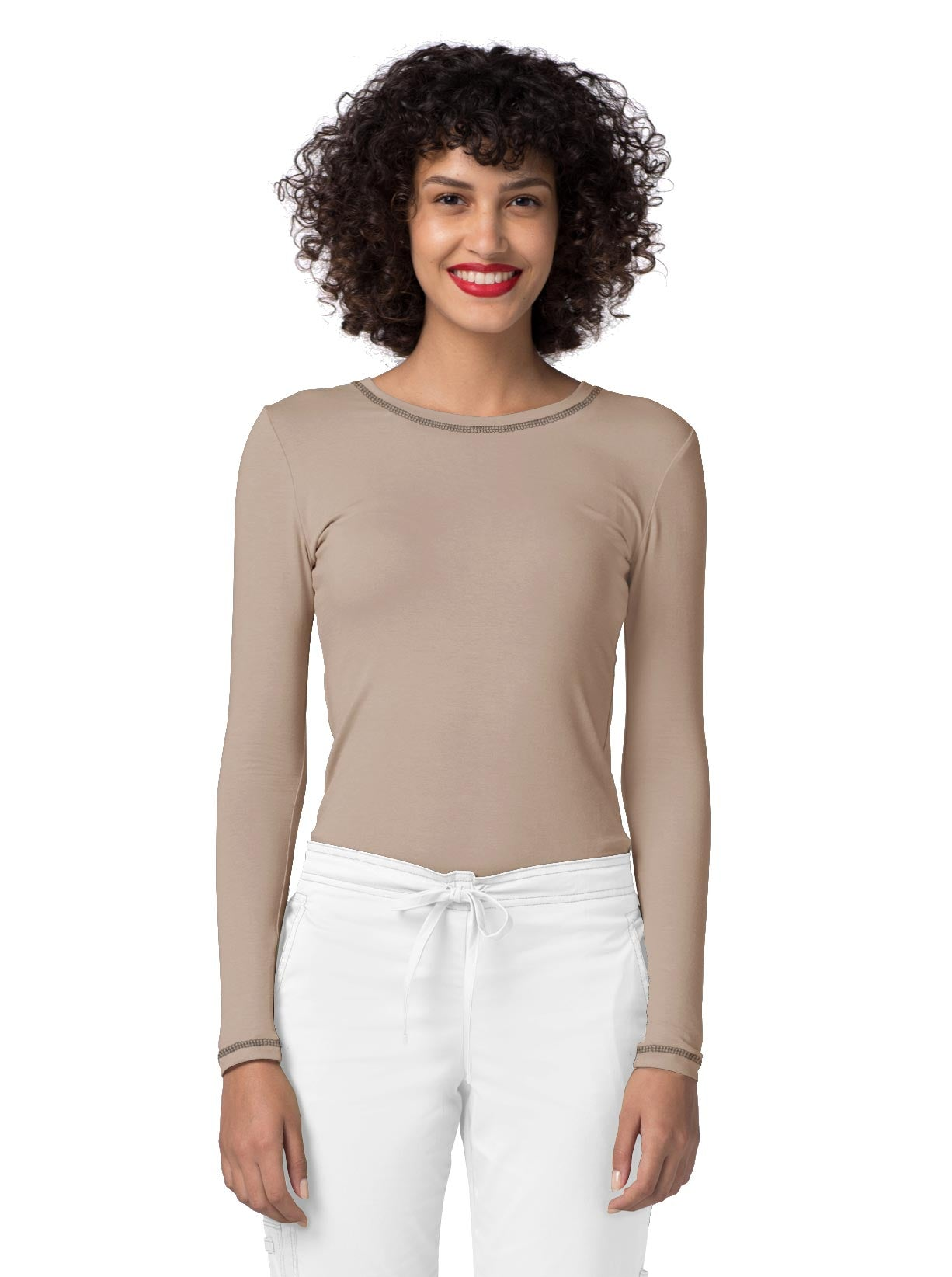 Adar Pop-Stretch Long Sleeve Fitted Tee