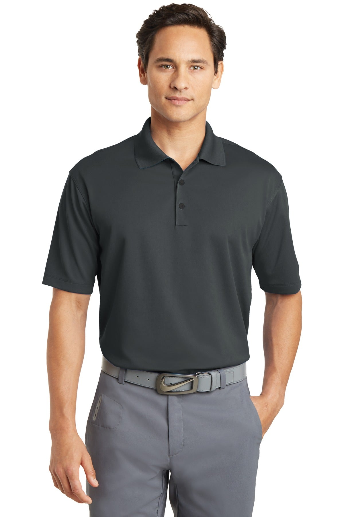 Anthracite Nike Dri-FIT Micro Pique Polo.