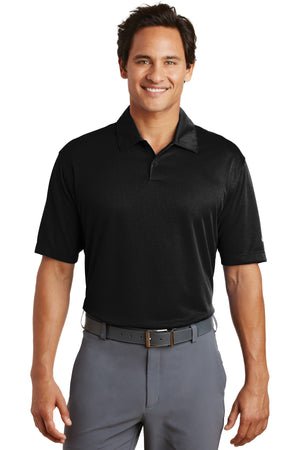 Black Nike Dri-FIT Pebble Texture Polo.