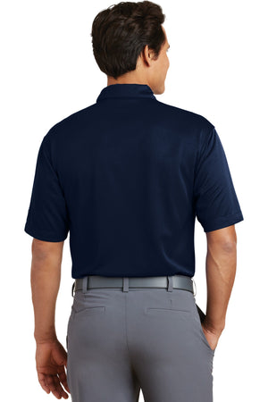 Midnight Navy Nike Dri-FIT Pebble Texture Polo.