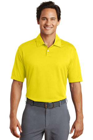 Tour Yellow Nike Dri-FIT Pebble Texture Polo.