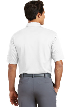 White Nike Dri-FIT Pebble Texture Polo.