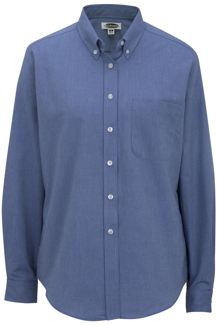 Edwards Ladies Long Sleeve Oxford Shirt